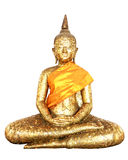 Buddha statue covered in gold leaf isolate Royalty Free Stock Image