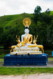 Buddha statue with Deers statue Stock Photography