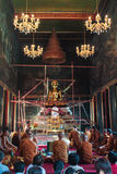 Buddha-Statue in der Kapelle Lizenzfreies Stockbild