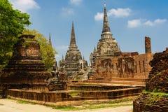 Buddha-Statue der Tempel von Ayutthaya ist herrlich stockfotos