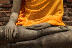 Buddha statue, detail Royalty Free Stock Photography