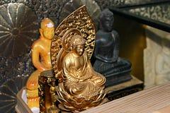 Buddha statue. Detail of gold Buddha statue royalty free stock photo