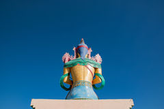 Buddha Statue at Diskit Monastery,Nubra Valley, Ladakh, India. Royalty Free Stock Image