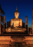 Buddha statue in dusk Royalty Free Stock Image