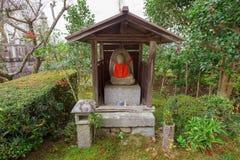 Buddha statue in Enkoji temple. Garden, Kyoto, Japan Stock Image