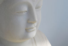 Buddha Statue Face. Close up photo on the face of a Buddha statue Stock Photography