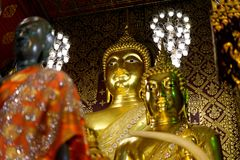 The Buddha statue : Faith in religion. The north of Thailand Royalty Free Stock Photo