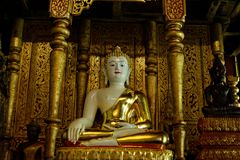The Buddha statue : Faith in religion. The north of Thailand Stock Images