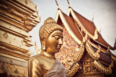 The Buddha Statue. In the famous temple in Northern Thailand Stock Images