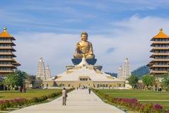 Buddha-Statue in FO Guang Shan in Kaohsiung, Taiwan Stockbilder