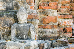 Buddha statue front wall of Temple Thailand Royalty Free Stock Image