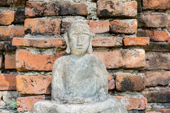 Buddha statue front wall of Temple Thailand Stock Photography