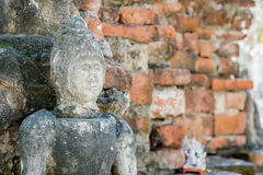 Buddha statue front wall of Temple Thailand Stock Photo