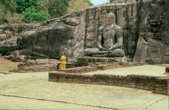 Buddha Statue in Gal Pota Temple, Polonnaruwa Royalty Free Stock Photography