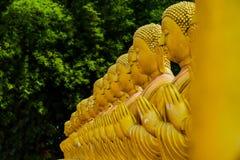 Buddha-Statue, Geschichte von Magha Puja Day am Buddhistgedenkpark Makha Bucha stockbild