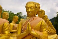 Buddha-Statue, Geschichte von Magha Puja Day am Buddhistgedenkpark Makha Bucha stockbilder