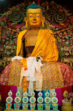 Buddha statue in Ghoom monastery Royalty Free Stock Photos