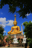 The buddha statue. Golden buddha statue Royalty Free Stock Photos