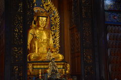 Buddha statue. Golden statue of Buddhas in the temple Stock Photo