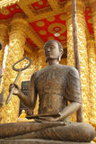 Buddha statue. Golden Buddha statue in a Buddhist temple Royalty Free Stock Photography