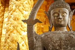 Buddha statue. Golden Buddha statue in a Buddhist temple Stock Image