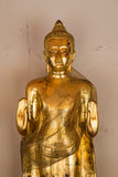Buddha statue in golden color Royalty Free Stock Photos