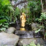 Buddha statue at golden mount temple. (wat sraket rajavaravihara) at bangkok, Thailand Stock Photography