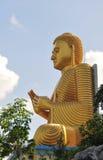 Buddha statue in Golden Temple in Dambulla Stock Image