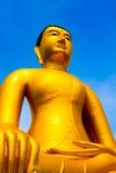 Buddha-Statue, große goldene Buddha-Statue in Thailand Lizenzfreie Stockfotos