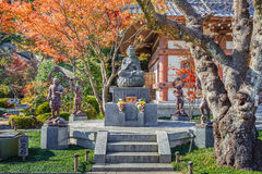 Buddha statue with the Guardians at Hasedera Temple Stock Images