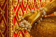 Buddha statue hand Royalty Free Stock Photography