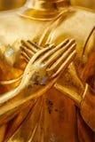 Buddha statue hands close up Royalty Free Stock Photo