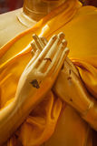 Buddha statue hands in  Vajrapradama Mudra Stock Photos