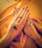 Buddha statue hands in  Vajrapradama Mudra Royalty Free Stock Images