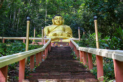 Buddha Statue. Happy Buddha in Ranong Thailand on the mountain Royalty Free Stock Photography
