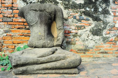 Buddha statue without head Stock Image