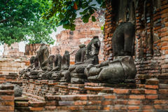 Buddha statue Headless at Ayutthaya, Thailand Stock Photos
