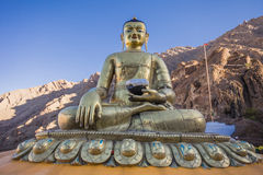 Buddha statue at Hemis Monastery Royalty Free Stock Images