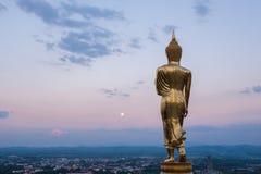 Buddha statue. On the hill at Wat Khao Noi, nan Royalty Free Stock Image