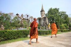 Buddha statue hindu style thai temple nhongkhai pr Stock Images