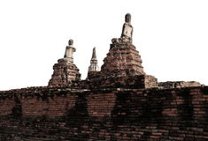 Buddha statue at historic site in Ayuttaya province,Thai Royalty Free Stock Photography