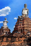 Buddha statue  at historic site in Ayuttaya province,Thailan Stock Images
