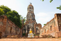 Buddha statue at historical park, Thailand. Buddha statue at historical park, Ayutthaya, Thailand Royalty Free Stock Photos