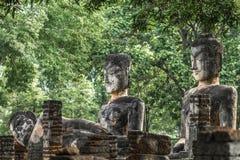 Buddha-Statue in historischem Park KamphaengPhet Lizenzfreie Stockbilder
