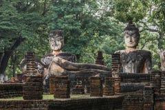 Buddha-Statue in historischem Park KamphaengPhet Stockbild