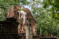 Buddha-Statue, historischer Park KamphaengPhet Stockbilder