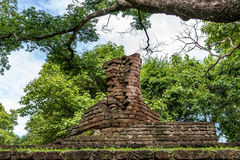 Buddha-Statue, historischer Park KamphaengPhet Stockfoto