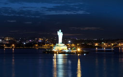 Buddha statue in Hyderabad Royalty Free Stock Photography