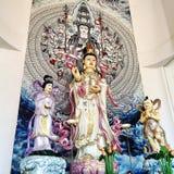 Buddha-Statue im chinesischen Tempel Lizenzfreie Stockfotos