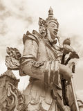 Buddha-Statue im Sepiaton Stockfotografie